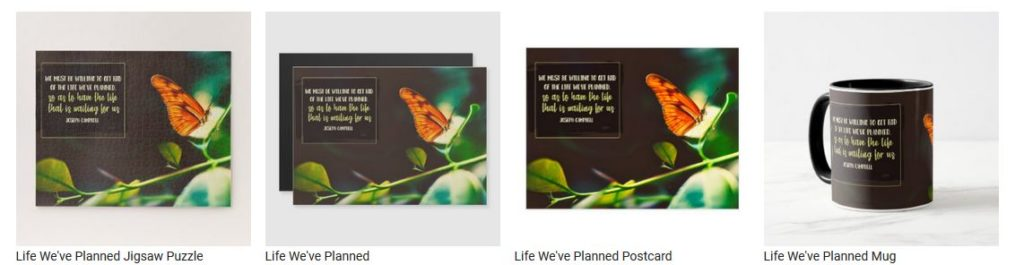 Life We've Planned by Joseph Campbell Customized Inspirational Products