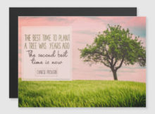 Best Time To Plant A Tree Inspirational Magnetic Card
