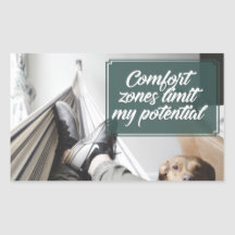 Comfort Zones Bestselling Inspirational Sticker