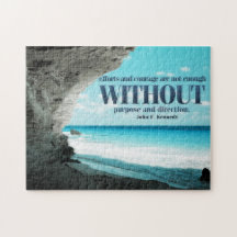 Efforts and Courage by John Kennedy Bestselling Inspirational Jigsaw Puzzle