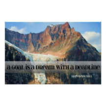 Goal - A Dream With A Deadline by Napoleon Hill Bestselling Inspirational Poster