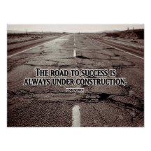 Road To Success Bestselling Inspirational Poster