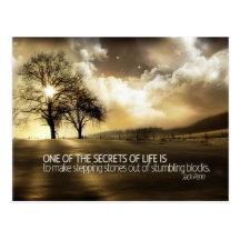 Secrets Of Life by Jack Penn Inspirational Postcard (Custom Inspirational Postcard)