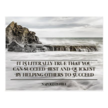 Succeed Best And Quickest by Napoleon Hill Inspirational Postcard (Custom Inspirational Postcard)