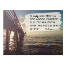 Truly Rich Man Bestselling Inspirational Postcard