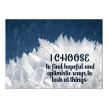 Ways To Look At Things Inspirational Magnetic Card (Custom Inspirational Magnetic Card)