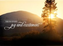 1307-Excitement Inspirational Graphic Quote Poster