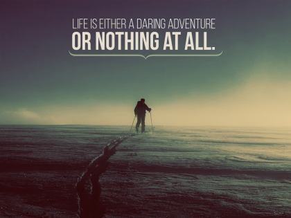 Daring Adventure by Inspiring Thoughts Inspirational Quote Graphic