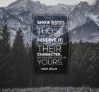 Reflection of Your Character by Dave Willis Inspirational Graphic Quote Poster