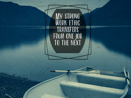 2485 Ethic Inspirational Graphic Quote Poster