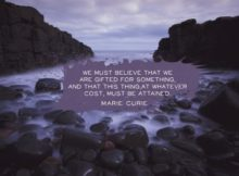 Gifted for Something by Marie Curie Inspirational Graphic Quote Poster