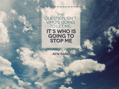 1548-Rand Inspirational Graphic Quote Poster