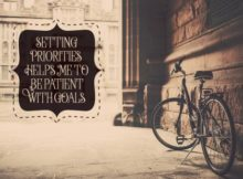 Setting Priorities by Positive Affirmations Inspirational Poster