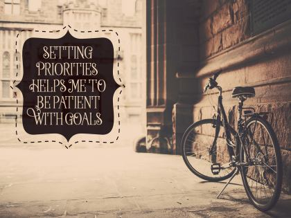 Setting Priorities by Positive Affirmations Inspirational Quote Graphic