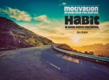Habit Keeps You Going by Jim Rohn Inspirational Poster