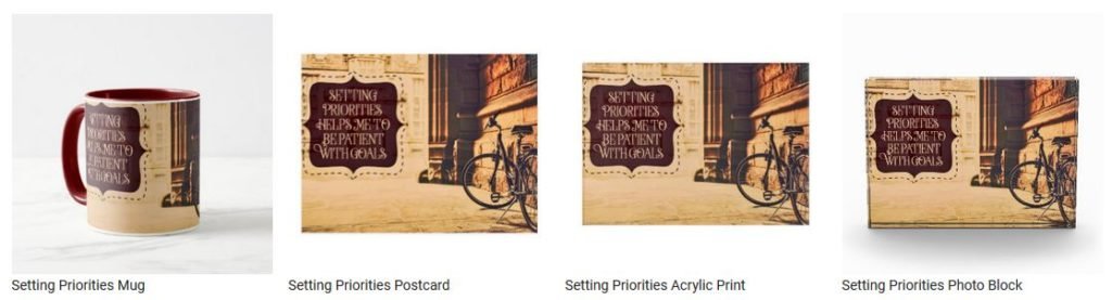 Setting Priorities by Positive Affirmations Customized Inspirational Products