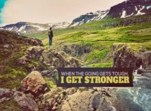 I Get Stronger by Positive Affirmations Inspirational Poster