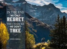 Chances We Did Not Take by Lewis Caroll Inspirational Poster