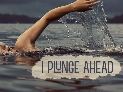 1685-Plunge Inspirational Graphic Quote Poster