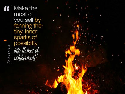 Most Of Yourself by Golda Meir Inspirational Quote Graphic