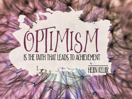 Leads to Achievement by Helen Keller Inspirational Quote Graphic