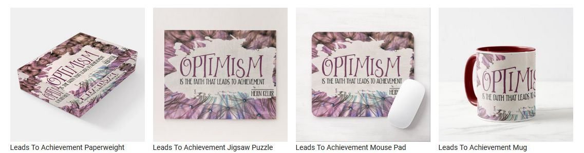Leads To Achievement by Helen Keller Customized Inspirational Products