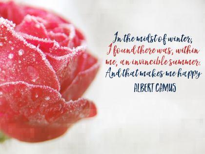 2500-Camus Inspirational Graphic Quote Poster