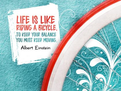 2506-Einstein Inspirational Graphic Quote Poster
