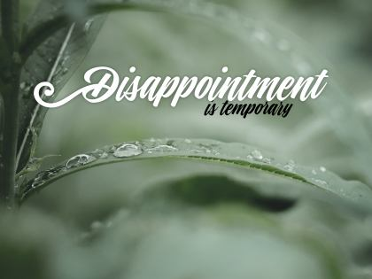 2515-Disappoint Inspirational Graphic Quote Poster