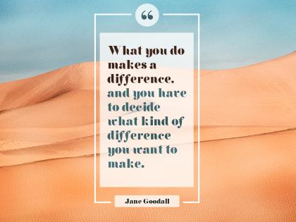 2547-Goodall Inspirational Graphic Quote Poster
