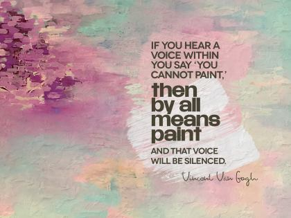 2551-VanGogh Inspirational Graphic Quote Poster