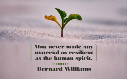 Resilient as the Human Spirit by Bernard Williams Inspirational Poster