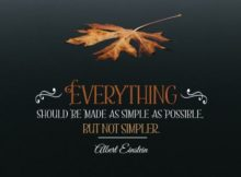 Be Made As Simple As Possible by Albert Einstein Inspirational Quote Poster