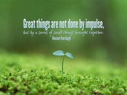 342-VanGogh Inspirational Quote Poster