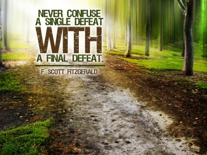 493-Fitzgerald Inspirational Graphic Quote Poster