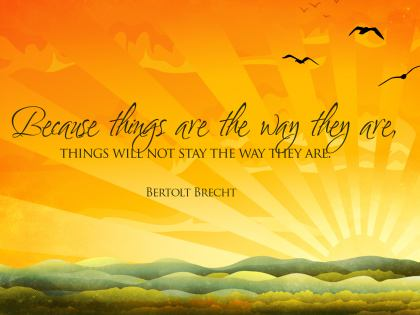 497-Brecht Inspirational Graphic Quote Poster