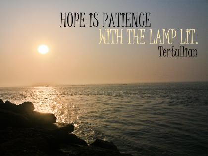 614-Tertullian Inspirational Quote Poster