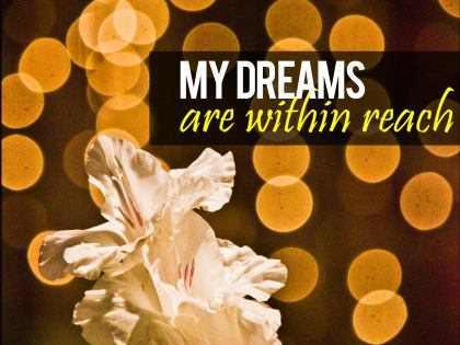 695-Dreams Inspirational Graphic Quote Poster