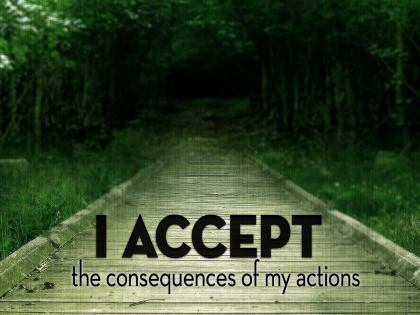 777-Consequences Inspirational Graphic Quote Poster