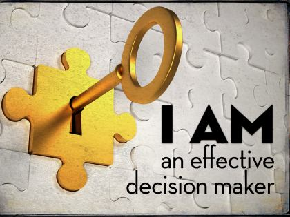 778-Decision Inspirational Graphic Quote Poster