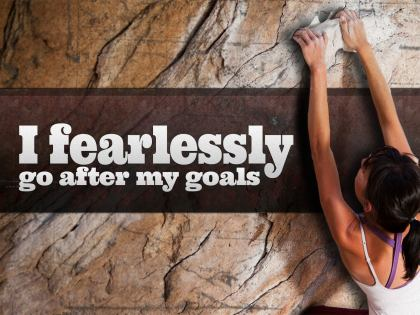 782-Fearless Inspirational Graphic Quote Poster