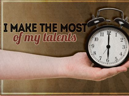 783-Talent Inspirational Graphic Quote Poster