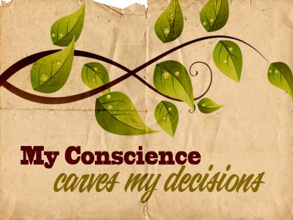 785-Conscience Inspirational Graphic Quote Poster