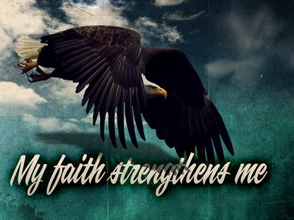 786-Faith Inspirational Graphic Quote Poster