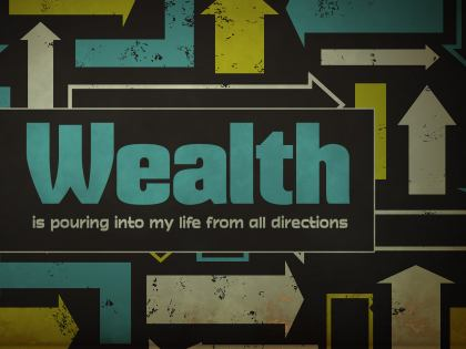 789-Wealth Inspirational Graphic Quote Poster