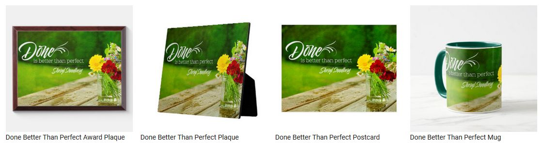Done Better Than Perfect by Sheryl Sandberg Personalized Products