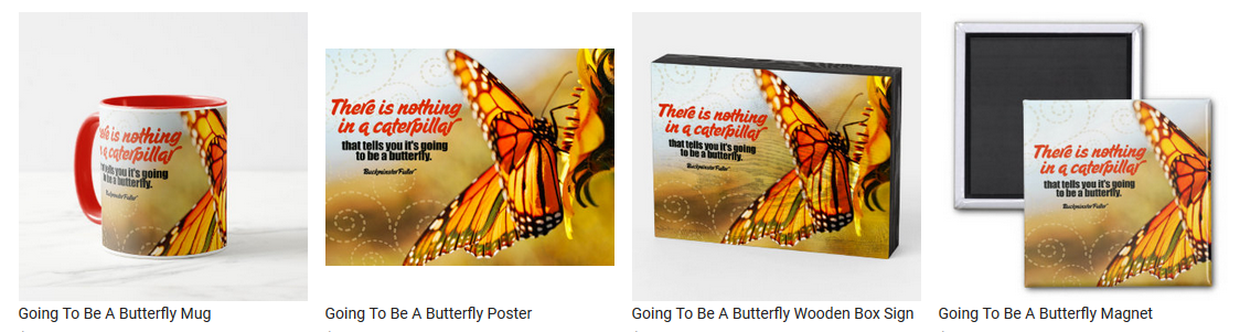Going To Be A Butterfly by Buckminster Fuller Personalized Inspirational Products