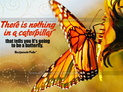 Going To Be A Butterfly by Buckminster Fuller Inspirational Poster