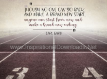 Make A Brand New Start by Carl Bard 420 Inspirational Quote Poster