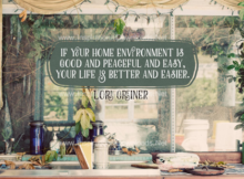 Home Environment by Lori Greiner Inspirational Thought Graphic